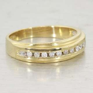 Fine Estate Diamond 14K Yellow Gold Channel Set Ring