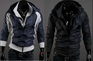 Mens Slim Designed Fit Premium Coat Jacket 2 colors 4 sizes