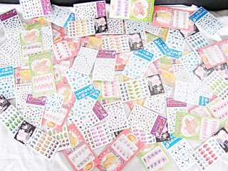 100 Bogen Nail Art Sticker Nagel Tattoos mit Strass Mix
