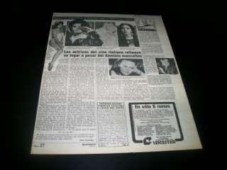 Gina Lollobrigida   Vintage Clippings