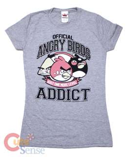 Angry Birds Addict Girls Women T Shirt 4 Size Licensed