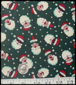 OOP Whimsical Christmas Santa Claus Fabric Material
