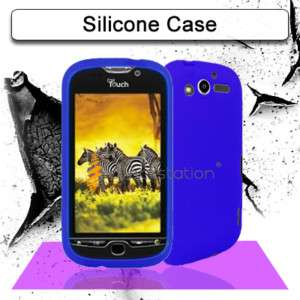 BLUE SOFT SILICON GEL SKIN CASE HTC TMOBILE MY TOUCH 4G