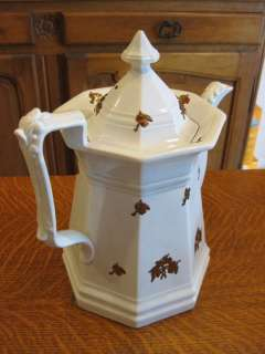ANTIQUE STAFFORDSHIRE IRONSTONE TEA OR COFFEE POT
