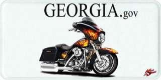 Harley Street Glide Motorcycle License Plate NEW