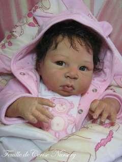 FEUILLE DE CERISE NURSERY   Baby reborn girl doll kit Lulu Adrie