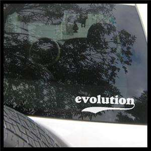 Evolution Vinyl Decal, Darwin, Science Car Sticker