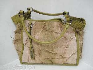NEW BURBERRY RAFFIA/LEATHER SATCHEL SHOULDER PURSE BAG