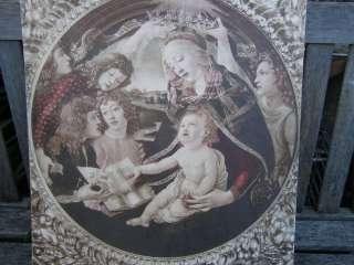 RARE ANTIQUE BOTTICELLI VIRGIN MARY BABY JESUS PRINT