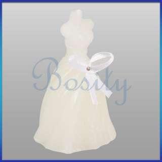 Elegant Wedding Gown Bride Dress Candle Wedding Favor Set High Quality