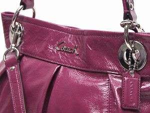 NWT Coach Ashley Patent Leather Hippie Crossbody Dark Plum 17953 $298