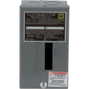 Square D by Schneider Electric QO 30 Amp 2 Space 2 Circuit Indoor Main