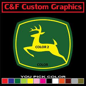 John Deere #1 Two Color Car Truck ATV Vinyl Decal 4.5x5 You Pick Two
