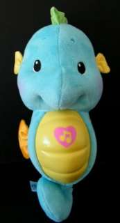 Fisher Price Blue Musical Light Up Sea Horse Plush Toy