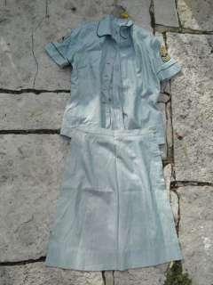 Vintage WWII Era Womens Army Corps WAC Uniform Patch Set Shirt Skirt