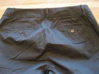 LOFT Black Stretch Cotton Slacks Pants Wide Leg Size 10 (G1)