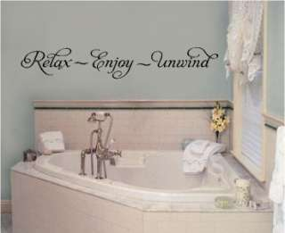 Relax Enjoy Unwind Wall Words Stickers Vinyl Decals Art