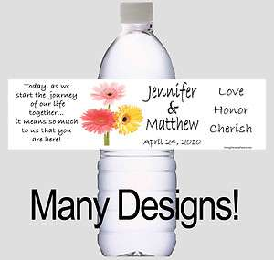 WEDDING WATER BOTTLE LABELS decorations and favors 35
