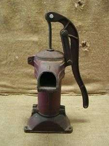 Vintage Cast Iron Farm Pump  Antique Old Pumps Garden