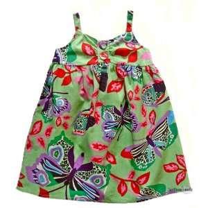 Emoi Mädchen Kleid mit Schmetterlingsmotiv/Sommerkleid,hellgrün