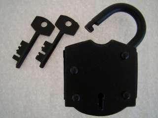 Heavy Duty Iron Lock & Keys ~ Old Antique Vintage Style