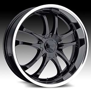 18 WHEELS RIMS MSR (AMERICAN EAGLE WHEEL) BLACK FACE WITH POLISHED