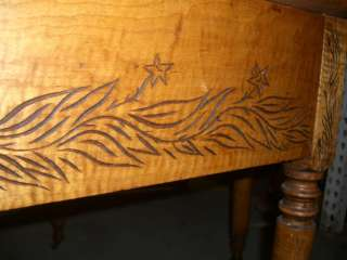 1840s 1850s SOLID TIGER MAPLE DROP LEAF FARM TABLE ANTIQUE GATE LEG