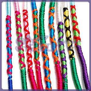 Handmade Woven Colorful Thread Friendship Bracelets