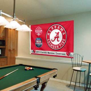 Alabama Crimson Tide 2011 BCS National Champions 3 x 5 Flag