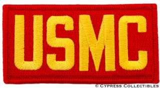USMC SHOULDER PATCH   US MARINE CORPS RED GOLD LETTERS