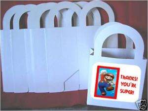 LOT 8 SUPER MARIO favor boxes birthday PARTY gifts