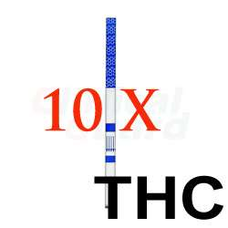 10 x One Step Marijuana THC Urine Drug Test Strip