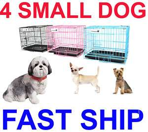 18 Portable Folding Dog Pet Crate Cage Kennel Two Door