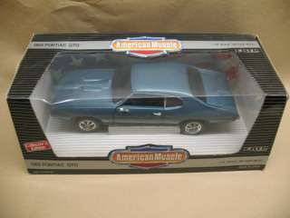 1969 GTO ERTL AMERICAN MUSCLE CRYSTAL TURQUOISE 1 18