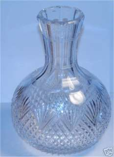 ANTIQUE CUT GLASS PINEAPPLE MOTIF DEEP CUT CARAFE