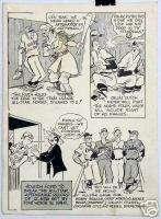 Texas All Stars 1951 Bill McClanahan Original Comic Art Sports Cartoon