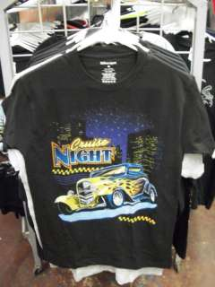 CRUISE NIGHT T SHIRT AMERICAN MUSCLE CARS HOT ROD FORD