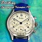 Breitling Chronograph 788 Premier Tricompax seltene Herrenuhr aus 1945