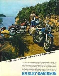 1968 Harley Davidson Sportster XLH & XLCH Original Ad