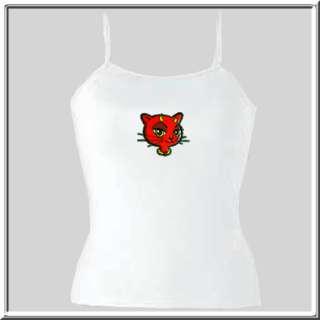 SLIX Glittery Devil Cat Kitty WOMENS SHIRTS S XL,2X,3X