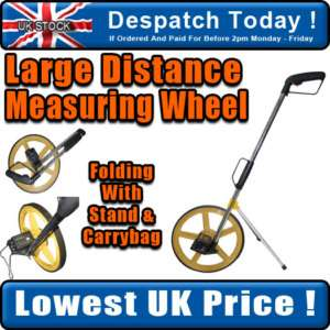 Large Distance Measuring Wheel Folding With Bag & Stand