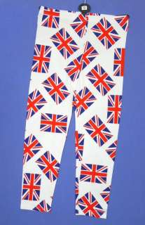 Girls All Over Union Jack Flag Print Jubilee Leggings 2 13 yrs NEW