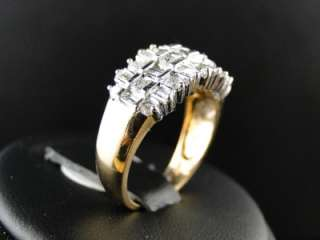 YELLOW GOLD ROUND CUT DIAMOND WEDDING BAND FASHION RING 1 CT