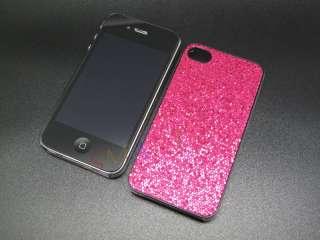NEW CHERRY RED BLING GLITTER HARD CASE FOR APPLE IPHONE 4 4S