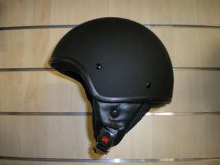 casco demi jet custom nero opaco misura s m l xl nuovo