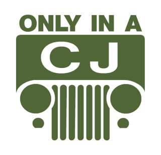 CJ7 Jeep logo decal sticker CJ2a CJ5 M38 m38a1 Willys