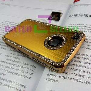 Luxury Gold/Golden Bling Diamond Crystal Hard Case Cover Apple iPhone