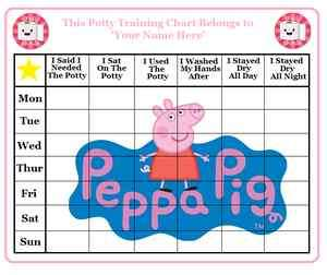 Reward Chart+Stickers+Magnet/Sticky Pads Peppa Pig George + More