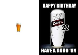 PERSONALISED CARLING LAGER DRINKING 21ST BIRTHDAY CARD