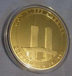 11 Coin World Man Gold God Bless America Medal I II September 11